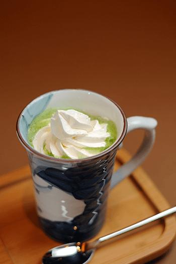 ホット抹茶ミルク