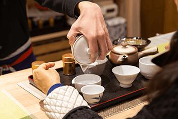 お茶の淹れ方体験1